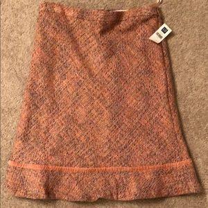 GAP lined tweed skirt - pink hues